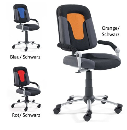 Drehstuhl Schreibtischstuhl Bürostuhl 2430 Farbe Orange Pharao24