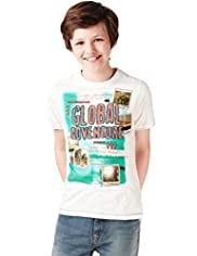 Pure Cotton Global Adventure T-Shirt with Stay New™