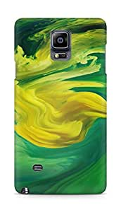 Amez designer printed 3d premium high quality back case cover for Samsung Galaxy Note 4 (Hurricane Swirl Abstract Art Paint Green Pattern)