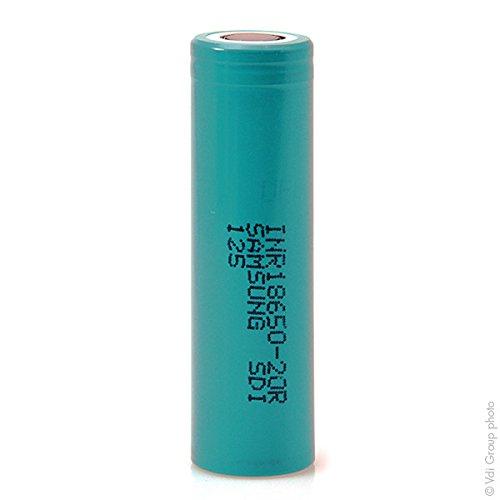 Samsung - Accus lithium INR18650-20R Li-Ion 3.7V 2000mAh HD - Accumulateur(s)