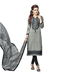 KANHA TRADING Women's Chanderi Cotton Dress Material(KANHA TRADING 717_Multicolor_Freesize)