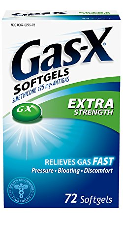 Gas-X Antigas, Extra Strength, 125 mg, 72 Softgels (Gas X Softgels compare prices)