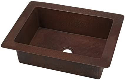 KDI22 inch Hammermarc Artisan Hammered Copper Chef's Prep Sink
