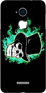 Timpax Slip-resistant, stain-resistant and tear-resistant Hard Back Case Cover Printed Design : A Hat on a Skull.100% Compatible with Coolpad Note 3