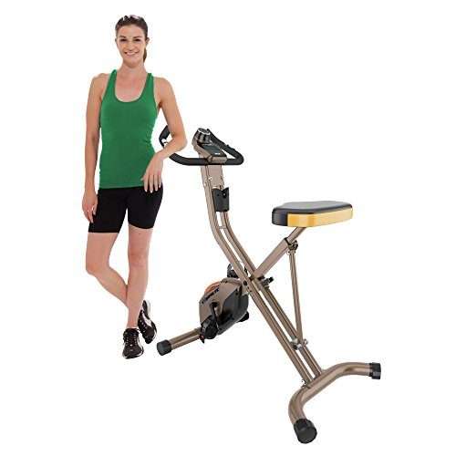 Find Bargain Exerpeutic GOLD 500 XLS Foldable Magnetic Upright Bike