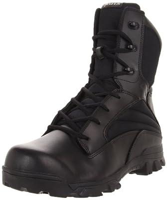 Bates Men's 8 Inch Leather Nylon Side Zip Uniform Boot