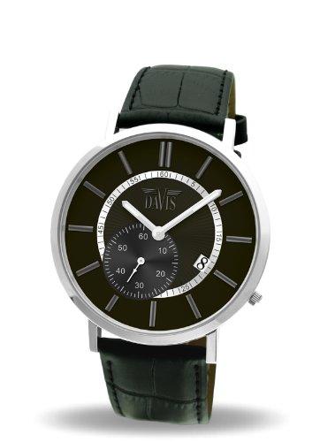 6730d238f8d4 Davis 1620 - Reloj analógico de cuarzo para hombre con correa de piel