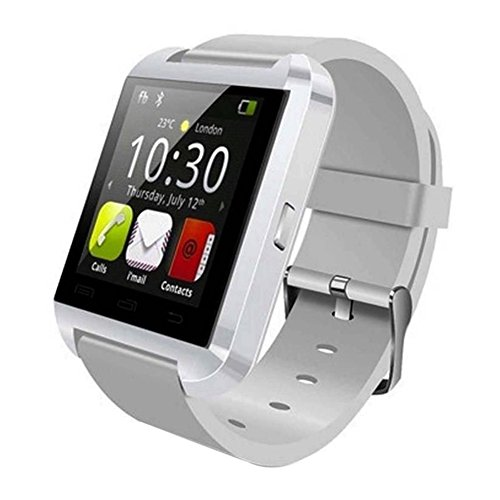 Soyan® New U Watch Bluetooth SmartWatch Wrist Watch Touch Screen Multilanguage Mate For Android Phones(Full functions) (white)