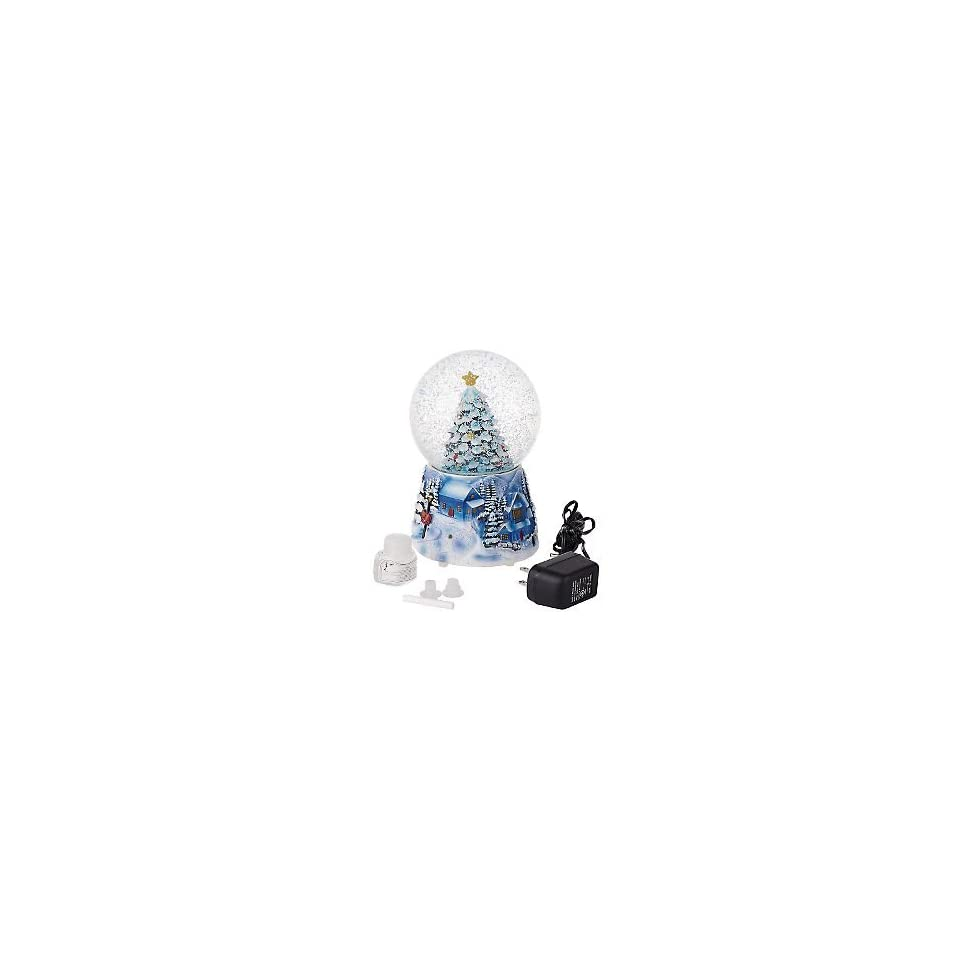 LORI GREINER BATTERY OPERATED CHRISTMAS TREE SNOW GLOBE W PINE SCENT