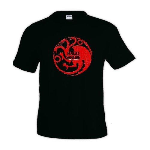 camiseta-juego-de-tronos-Casa-Tagaryen-manga-corta-negra
