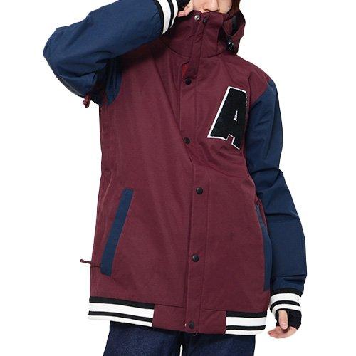 AA HARDWEAR(ダブルエー ハードウェア) スノーボードウェア ジャケット A・N・G JACKET スタジアム スタジャン メンズ Mサイズ BORDEAUX ang-jacket-M-72115301-BORDEAUX