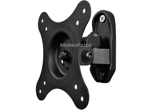 Monoprice Adjustable Tilting Wall Mount Bracket For Lcd Led (Max 30Lbs, 10~24Inch) - Black