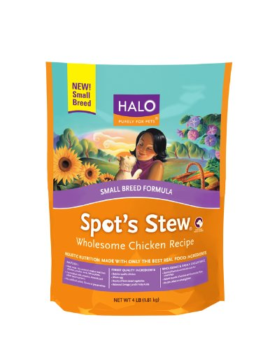 Halo Spot's Stew Natural Dry Wholesome Chicken for Small Breed Dogs, 4-Pound Bag