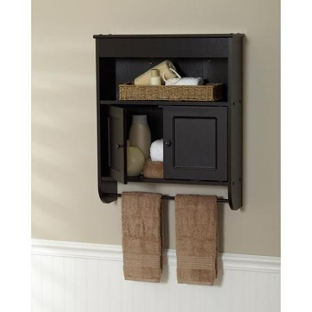 Find Cheap Espresso Wall Cabinet, Espresso Wood Finish Provides Simple, Elegant Appeal