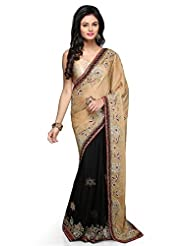 Bay & Blue Jacquard & Net Fabric Partywear Saree