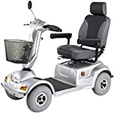 Heavy Duty Road Class Four Wheel Scooter, Silver