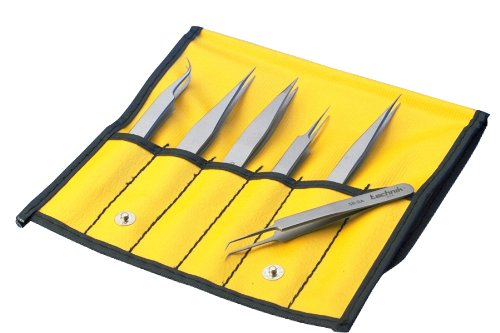 This is on my Wish List: Aven 18475USA 6 Piece Technik Precision Tweezer Set, Stainless Steel: Industrial Tweezers: : Industrial & Scientific