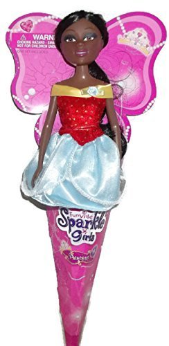 Funville Sparkle Girlz in Cone Princess African American Doll