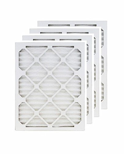 15x25x1 (14.5x24.5) MERV 8 Air Filter/Furnace Filters (4 pack) (Air Filter 15x25x1 compare prices)