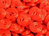 Red Licorice Wheels (Haribo) 1 Lb.