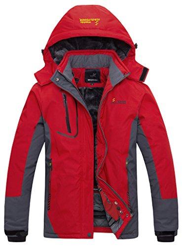 Wantdo Women's Waterproof Mountain Jacket Fleece Ski Jacket(US L) (Ski Jacket Women Insulated compare prices)