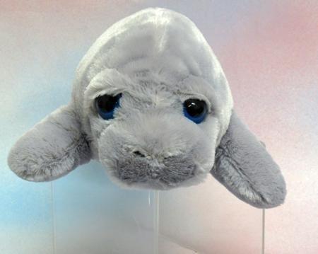 """Wishpets 13"""" Manatee Large Blue Eye Plush Toy"""