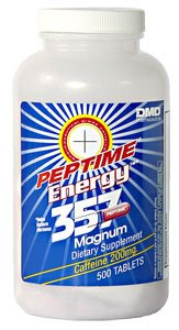 Peptime Stimulant 357 Magnum Caffeine Pills 500 Count Bottle 200Mg Caffeine A Piece