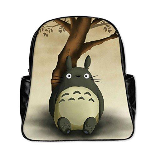 [DONGMEN Christmas Halloween Gifts Totoro Pattern Custom Multi-pocket Backpack Students School Bag Travel Bag] (Totoro Diy Costume)