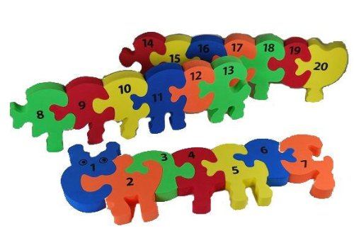 PUZZLE TEPPICH - Zahlenraupe Zahlen lernen - PUZZLETEPPICH SPIELTEPPICH PUZZLEMATTE - Moosgummimatte / Moosgummi