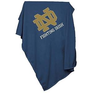 Notre Dame Fighting Irish NCAA Sweatshirt Blanket Throw by Logo Chair