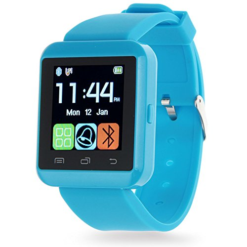 Padgene Bluetooth 4.0 Smart Watch Bracelet for Samsung S5 / Note 2 / 3 / 4, Nexus 6, Htc, Sony and Other Android Smartphones, BLUE