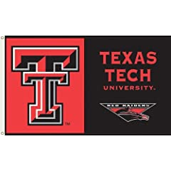 Buy NCAA Texas Tech Red Raiders 3-by-5 Foot Flag with Grommets by BSI