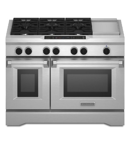 Kitchenaid KDRS483VSS Commercial-Style Dual Fuel Range