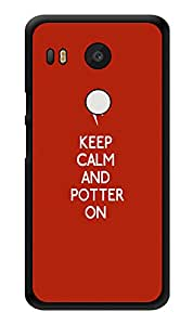 "Humor Gang Keep Calm And Potter On Printed Designer Mobile Back Cover For ""Lg Google Nexus 5x"" (3D, Glossy, Premium Quality Snap On Case)"