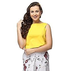 VODKA FASHION INDIA yellow color Top