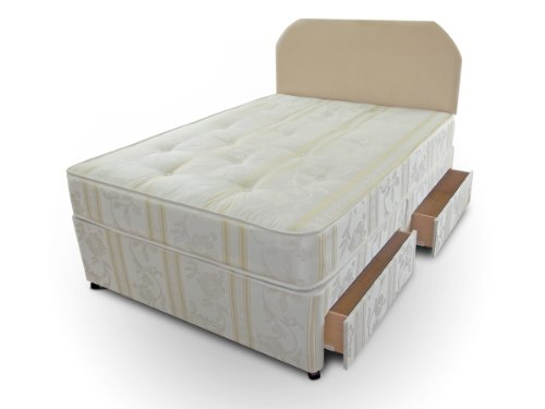 Divan Bed Luxury 4ft Small Double Size Including Mattress And 2 Drawer Storage