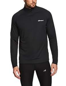 Berghaus Men's Essential Long Sleeve Zip Baselayer - Black, Small