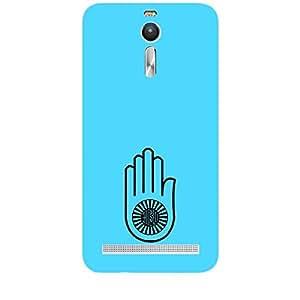 "Skin4gadgets Jainism Symbol ""AHIMSA"" on English Pastel Color-Ocean Blue Phone Skin for ZENFONE 2"