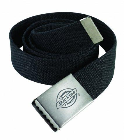 Dickies Cintura In Tessuto Con Fibbia In Metallo Con Logo - Be500 - Nero, 1 Pezzo
