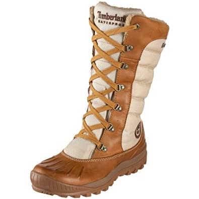 Timberland Women's 21646 Earthkeepers Mount Holly Tall Lace Duck Boot,Wheat/Oatmeal,6 M US