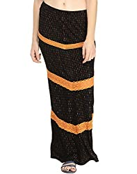 Printed Fitted Maxi Skirt 28