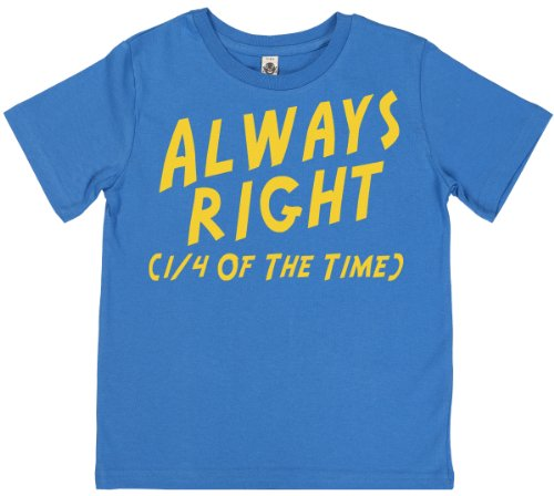 Phunky Buddha - Always Right Unisex Children'S T-Shirt 7-8 Yrs - Blue front-749616