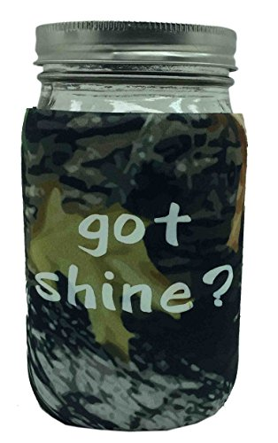 Jar-z GotShineTCamoQ Mason Jar Jacket, 1 quart, Tree Camo
