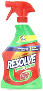 Resolve Laundry Stain Remover, Original Trigger, 32 Ounce (Pack of 3)
