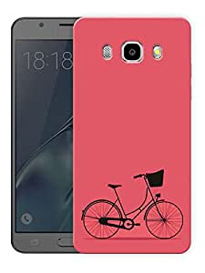 "Minimal Bicycle - Red Printed Designer Mobile Back Cover For ""Samsung Galaxy J5 2016 Edition"" (3D, Matte, Premium Quality Snap On Case)"