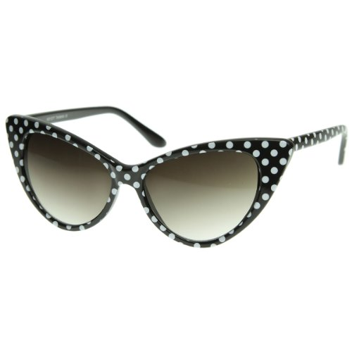 zeroUV® - Polka Dot Cat Eye Womens Mod Fashion Super Cat Sunglasses