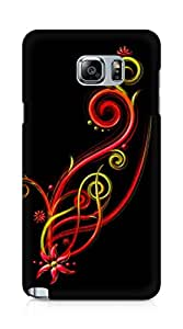 Amez designer printed 3d premium high quality back case cover for Samsung Galaxy Note 5 (Abstract Dark 13)