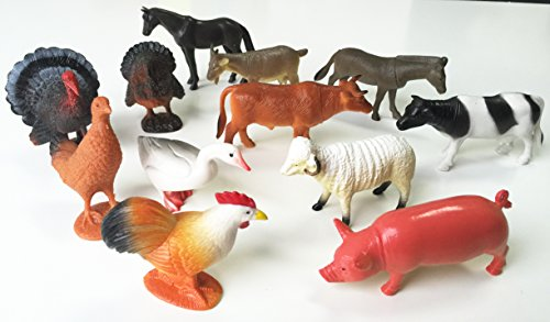 GIFTEXPRESS Large Farm Animals 12 Piece
