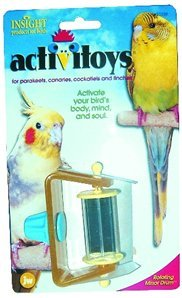 Cheap JW Pet Company 080-31039 JW Pet Company Insight Rotating Mirror Drums Small Bird Toys Assorted Colors (080-31039)
