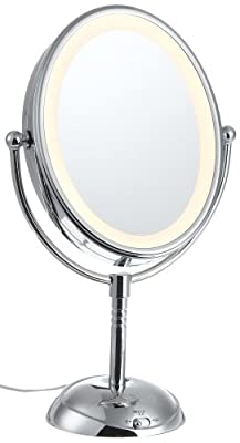 Best Cheap Deal for Conair BE51 Double-Sided Oval Illuminated Mirror, 6 Inch, 7x/1x Magnification, Fog-Free Viewing from Conair - Free 2 Day Shipping Available
